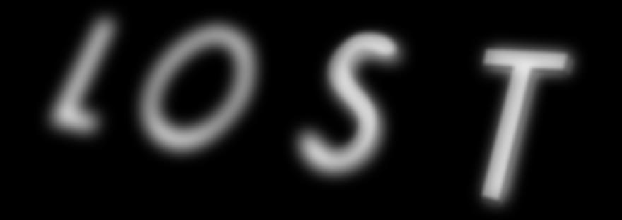 "scritta ""lost"""